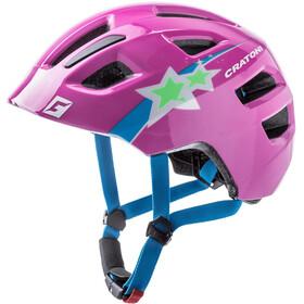 Cratoni Maxster Helmet Kids stars/lila gloss